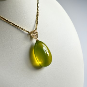 Natural Green Baltic Amber...