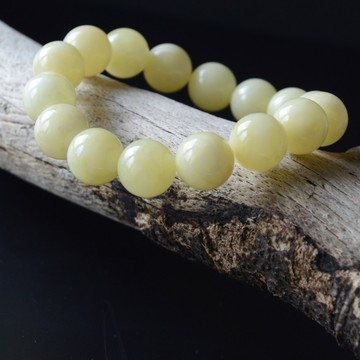 Milky White Baltic Amber Bracelet 19.30 grams